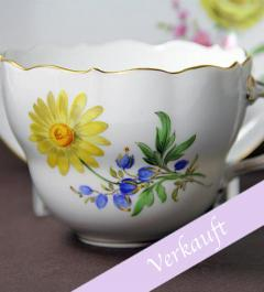 Meissen Coffee Mug with Saucer and Plate**