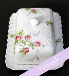Butterdose  mit Rosen/Limoges Haviland France**