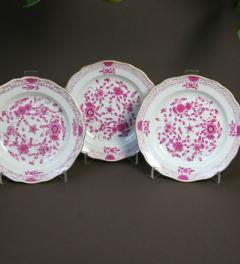 3 Meissen plates indian purpur***
