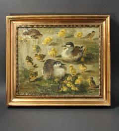 Antique oil painting Enten***