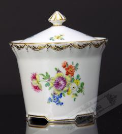 Old Sugar Pot with flowers**