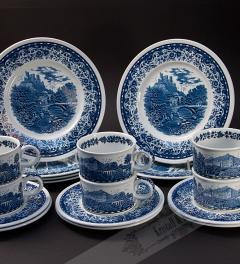 Villeroy & Boch Mettlach/ Blue Castle 6 dishes**