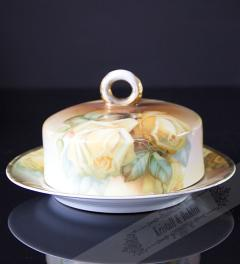 Thomas Sevres/ Gelbe Rose Butterdose**