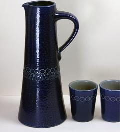 Ceramic Pitcher with 6 Cups**