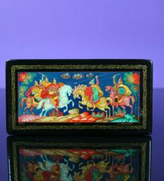 Antique/Russian lacquer box Sofia***
