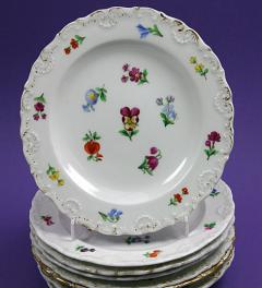 Meissen plate flower decor**