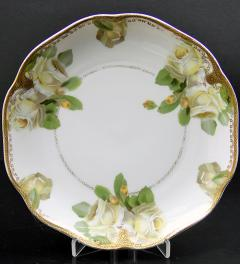 Plate/Ph.Rosenthal Crysantheme/Gelbe Rose/ Marke 1891-1906**