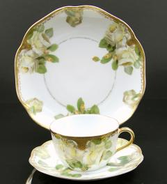 Crysantheme Ph.Rosenthal/Coffee Cup with Saucer and Plate, Gelbe Rose Marke 1891-1906**