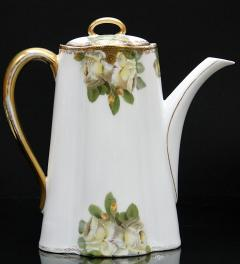 Coffee pot Ph.Rosenthal Crysantheme/Gelbe Rose/ 1891-1906**