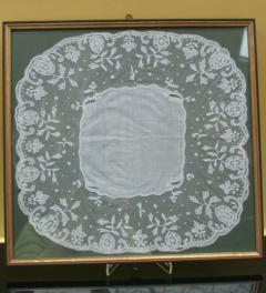 Antique lace cloth**
