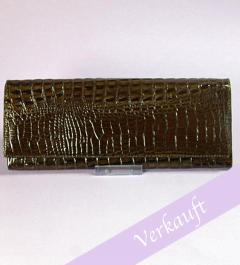 Kroko Clutch in braun**