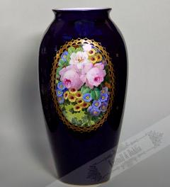 Antique Vase hand painted/ Pirkenhammer**