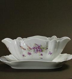 Antique Sauce boat with violets***