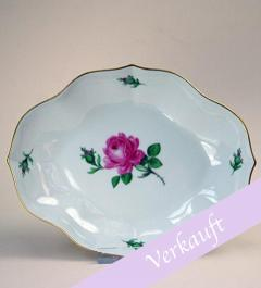 Meissen Bowl Rote Rose Moosrose**