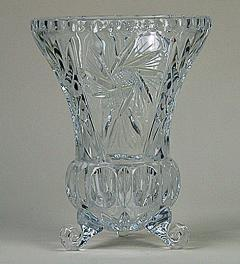 Antique leaded crystal vase**