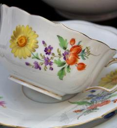 Meissen Tea service with colorful flowers**