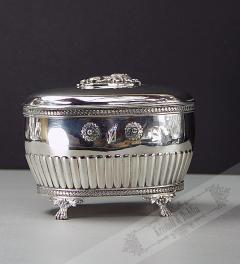 Empire Antique Sugar Bowl Silver 1900**