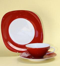 Wunsiedel/Teacup with Saucer and Plate**