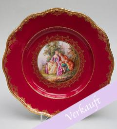 Meissen decorative plate purpur red**