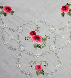 Table Cloth with Roses**