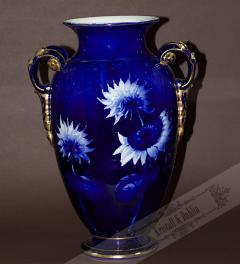 Big china Blue Vase/Franz Anton Mehlem 1900**