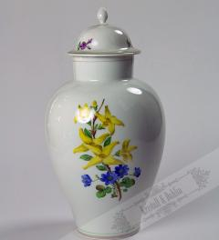 Meissen Porcelain Vase with flowers**