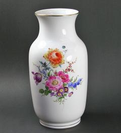 Meissen/Large Vase with floral decor**