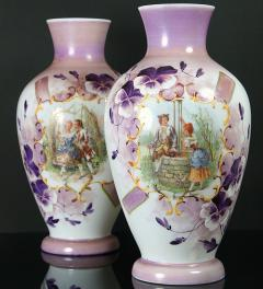 2 Vases/ hand painted**