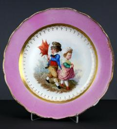 Meissen plate with children couple***