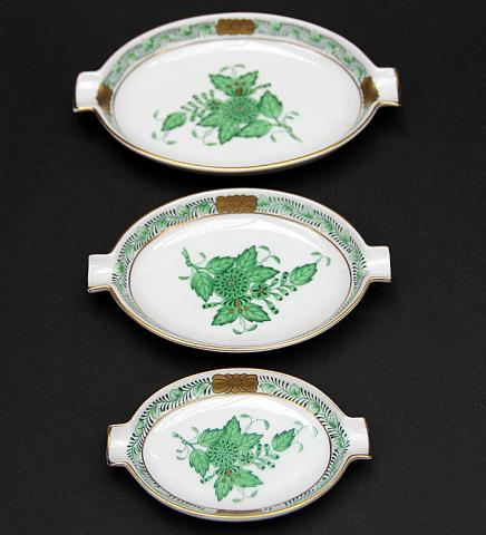 Herend Ash-Tray APPONYI green/ 3 Items**