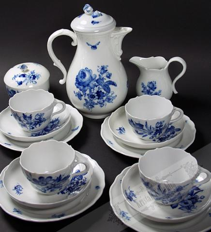Meissen Coffee service Blue Flowers**