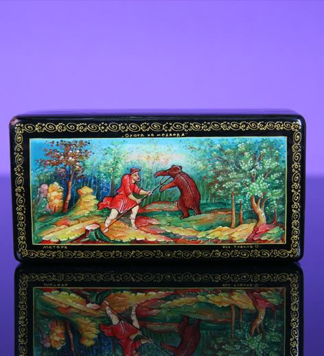Antique/Russian lacquer box Maria***