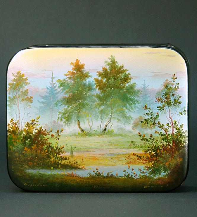 Antique/Russian lacquer box Anastasia***
