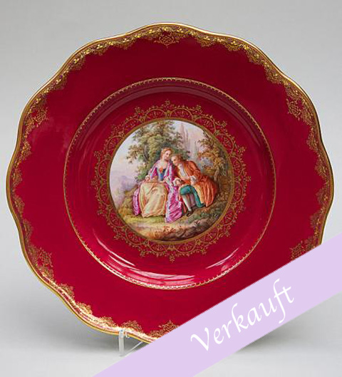 Meissen decorative plate purpur red** : red decorative plate - pezcame.com